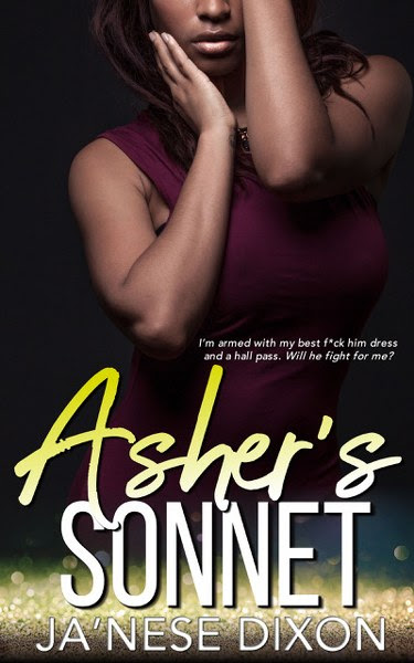 Book Cover for Asher's Sonnet from the Smith Pact Duo romance series by Ja'Nease Dixon.