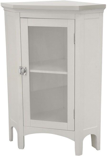 White Glass Door Shelf Kitchen Bathroom Linen Home Storage ...