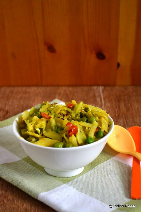 http://indiankhanna.blogspot.com/2013/04/Pattagobi-Matar-Sabzi-Cabbage-Peas-Stirfry-Recipe.html
