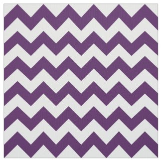 Geometric Purple and White Zigzag Fabric