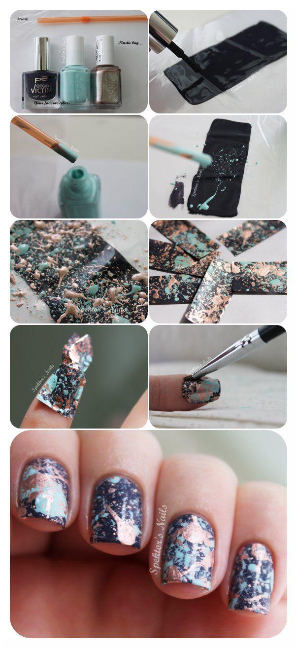 DIY nail stickers!