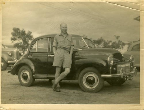 Daddy and Morris Minor