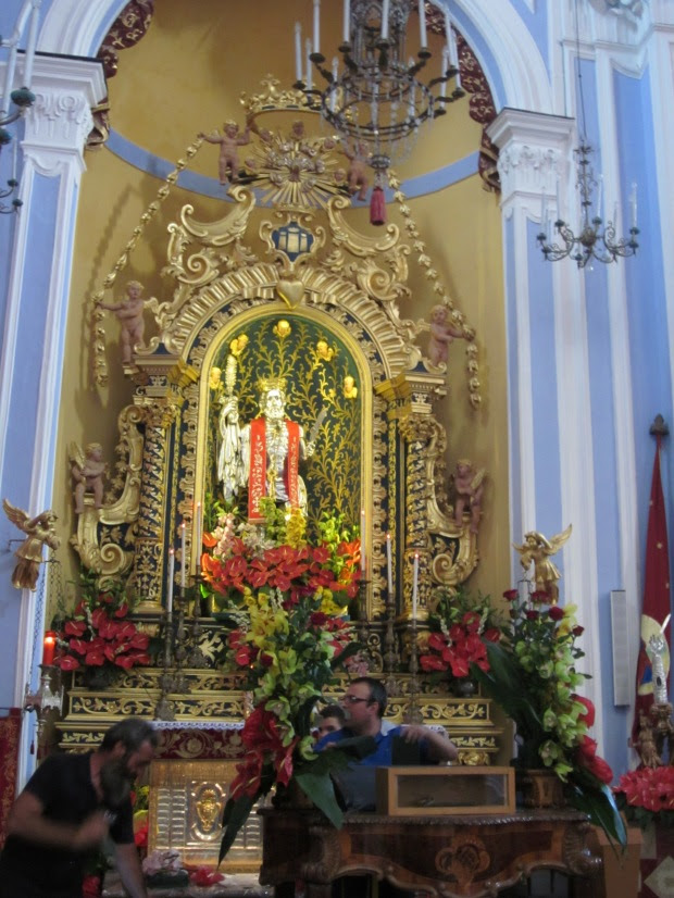 San Bartolomeo:  Santo Patrono di Lipari......Saint Bartholomew, Patron Saint of Lipari  {Copyright Francesca Mignosa}