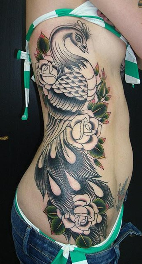 Peacock And Flower Drawing Tattoo At Getdrawingscom Free For