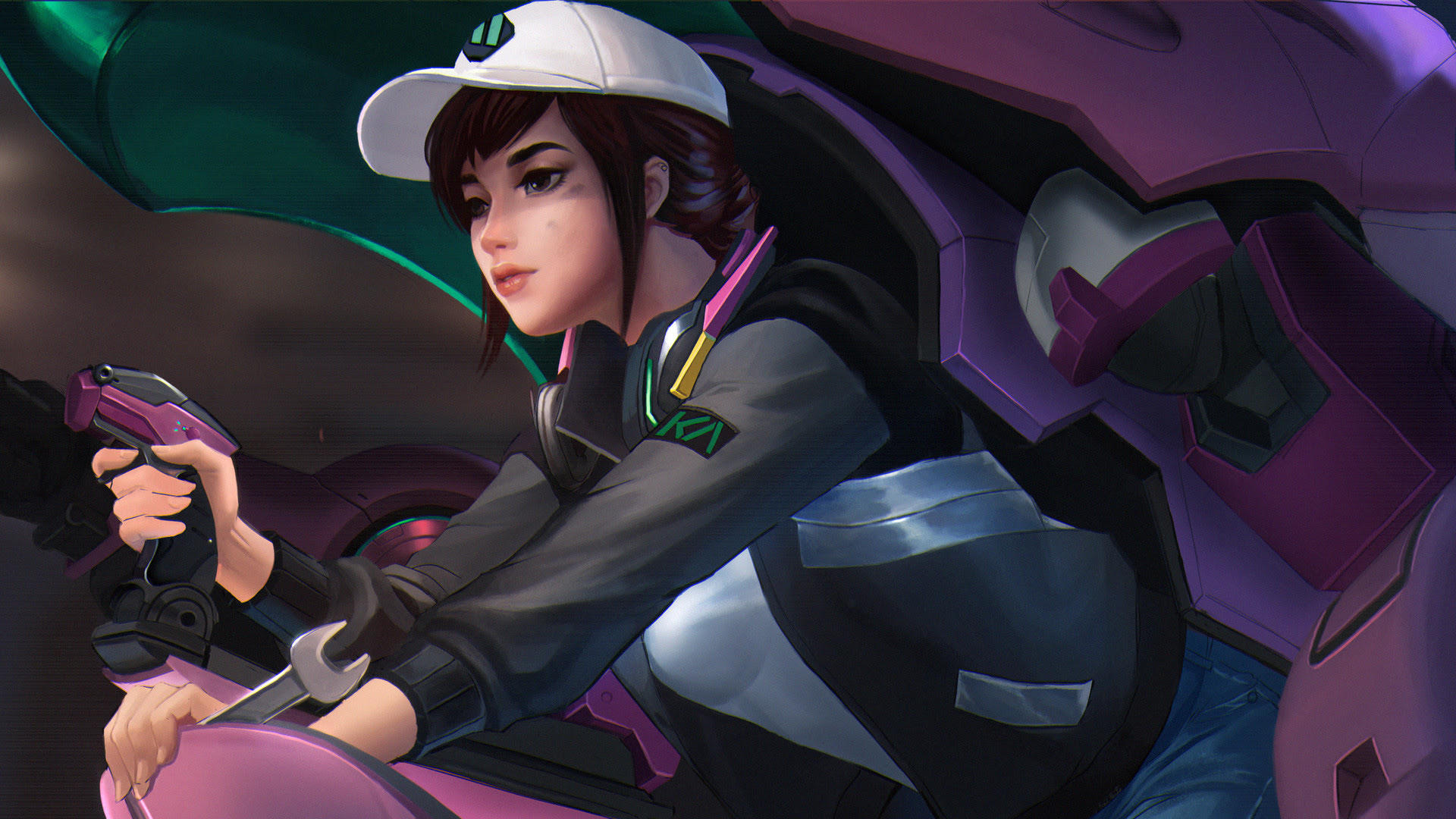Overwatch Dva Artwork Hd Hd Games 4k Wallpapers Images