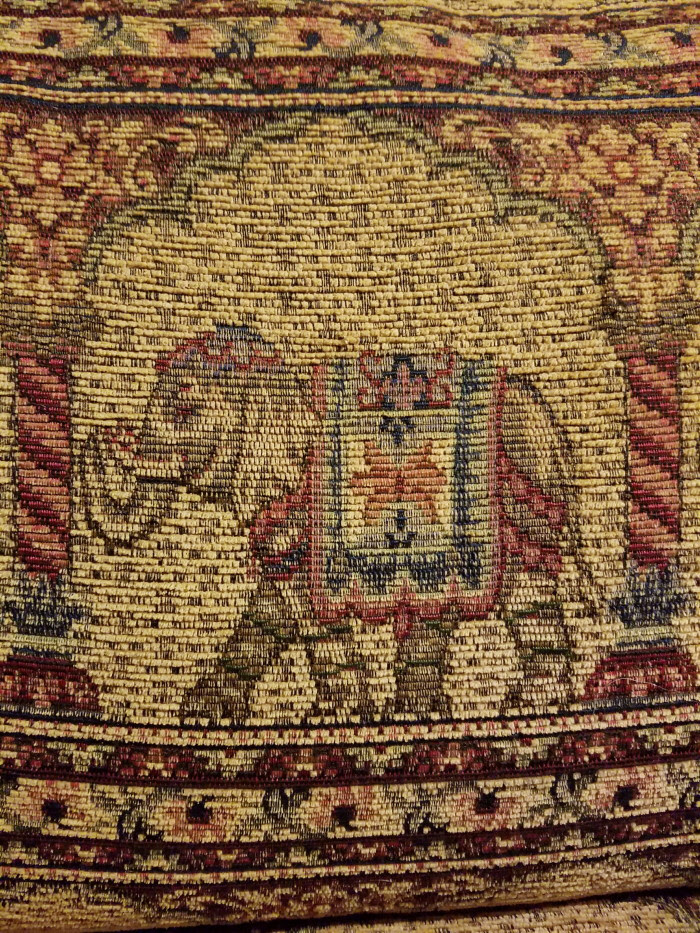 Whimsical elephant sofa fabeic