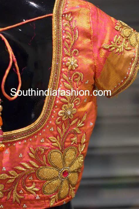 Zardosi Work Blouse for Wedding Sarees   blouse for