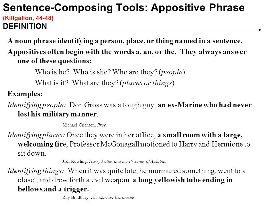 Appositives And Appositive Phrases Worksheet Answers ...