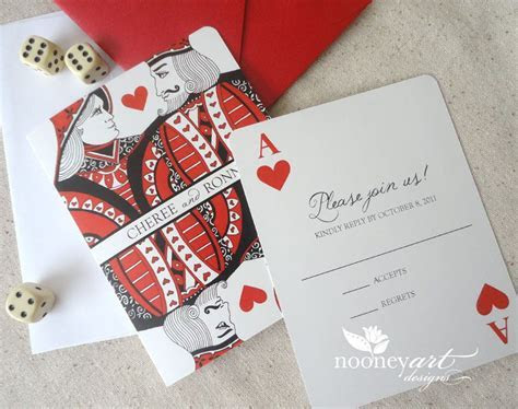 Las Vegas Wedding   Playing Card Wedding Invitations and