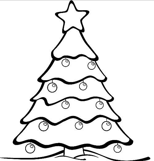 ausmalbilder tannenbaum zum ausdrucken  zeichnen und färben