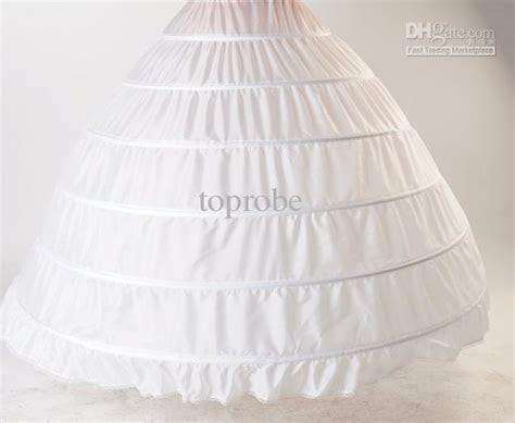 BRIDAL WEDDING GOWN PETTICOAT Crinoline SLIP 6 HOOP White