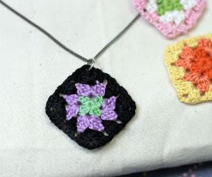 Tiny Granny Square Necklace