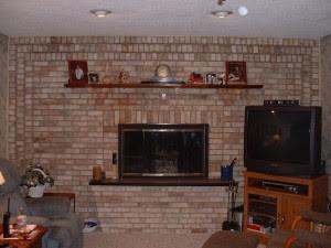 Brick fireplace | Kris Allen Daily