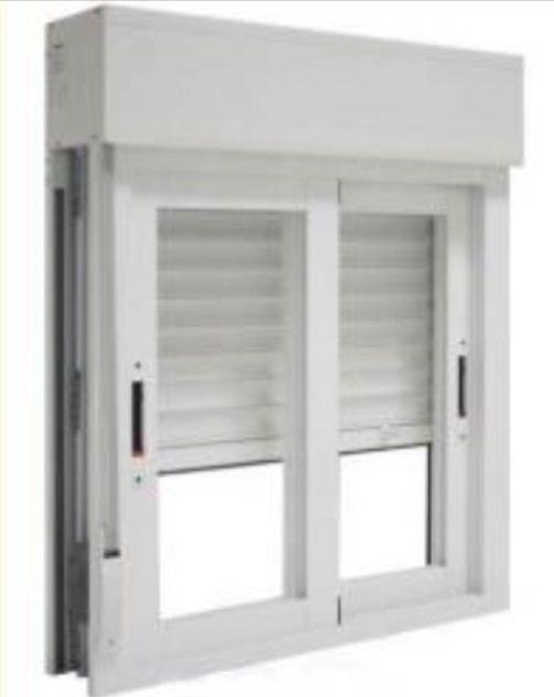 dormitorio muebles modernos ventanas con persiana
