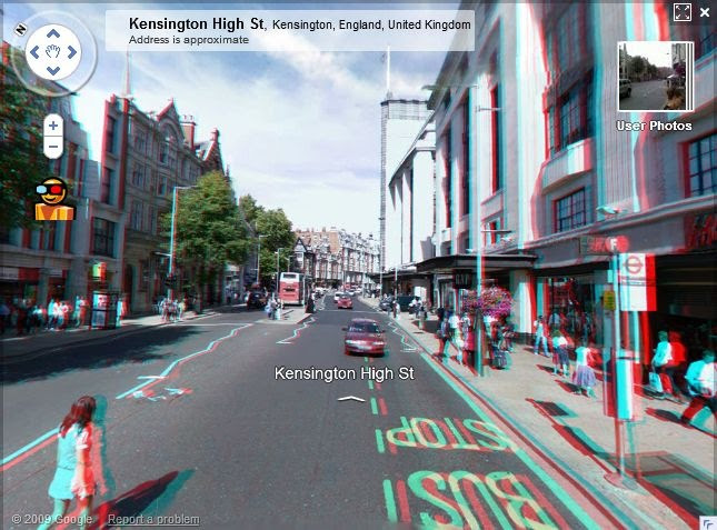 3d Wallpaper For 3d Glasses. Google Maps Street View in 3D