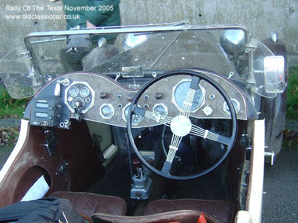 Classic MG PB car on this vintage rally