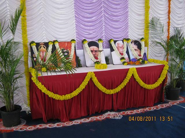 Blessing the launch of DSK Kunjaban - 1 BHK 2 BHK Flats - Punawale - off Mumbai Bangalore Bypass - Pune 411 045
