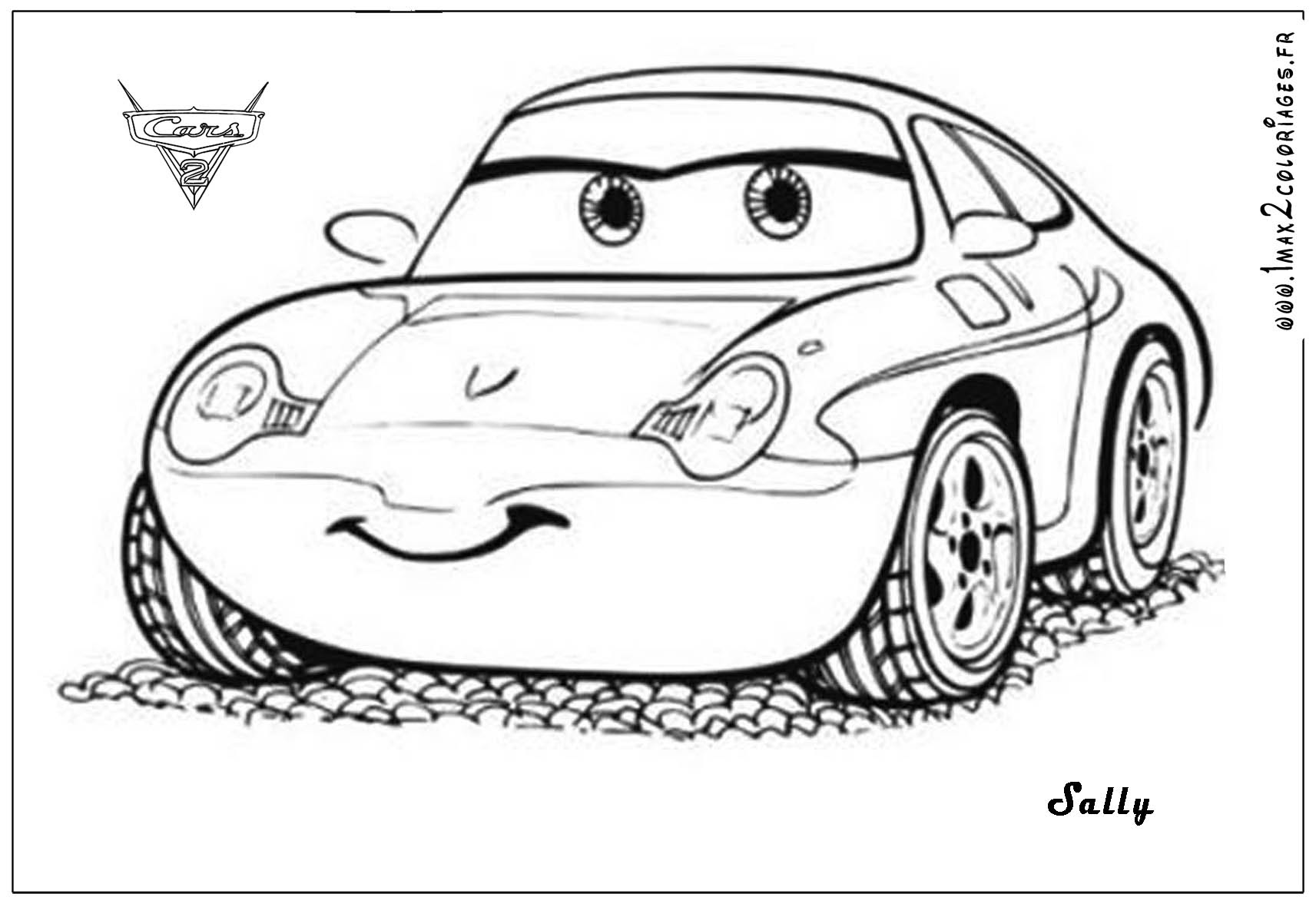 sally cars 2 coloriages