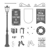 Brightly Lit Christmas Photopolymer Stamp Set