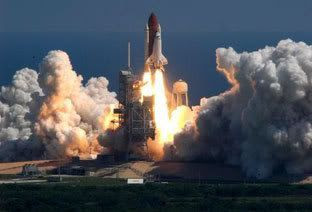 Space shuttle Atlantis launches on mission to the International Space Station on September 9, 2006, at 8:14:55 AM (Pacific Daylight Time).