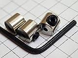 ピンバッジの留め具◆しっかり留まるネジ式キャッチ3個セット