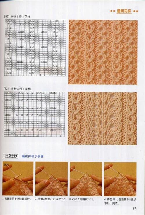 схемы вязания крючком ажурных рисунков