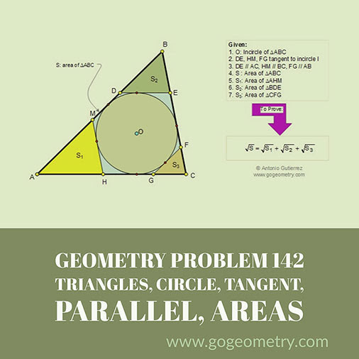 Typography of Geometry Problem 142: Triangle, Circle. iPad Apps