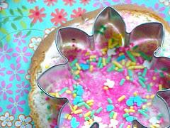 fairy bread: cutting