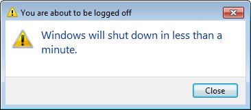 Petya/GoldenEye: Windows shut down alert