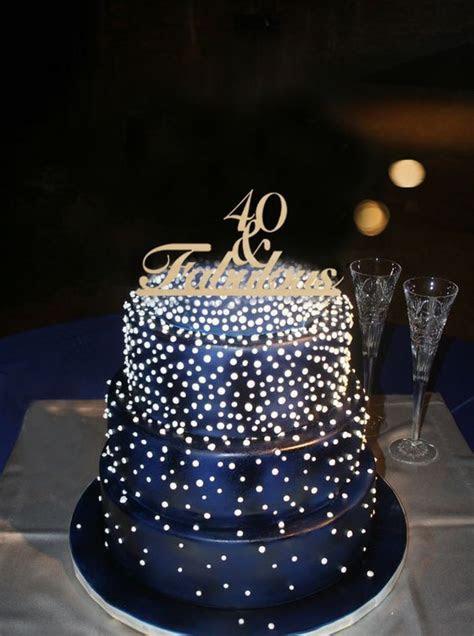40 & Fabulous Birthday Cake Topper Alternative Color