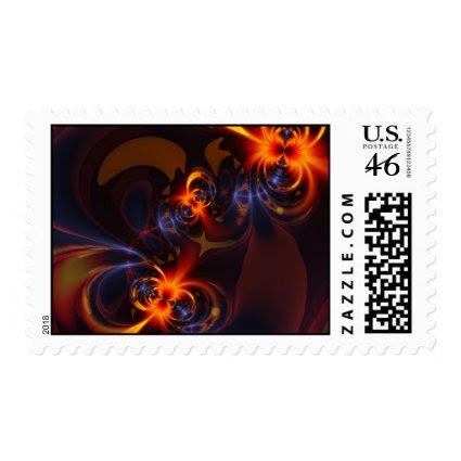 Eyes & Swirls – Amber & Indigo Delight Stamp