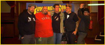 Erik Chandler of Bowling for Soup with my Luke-Saber in 2009.