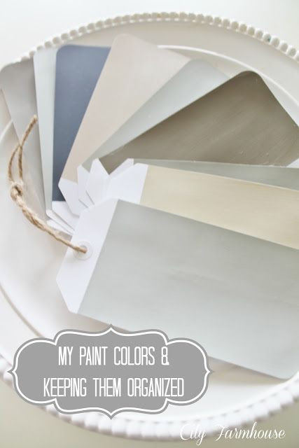 Probably wouldn't think of keeping your paint swatches somewhere for when it comes time to do a touch up!