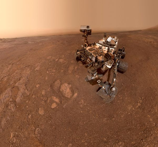 A self-portrait of NASA's Curiosity Mars rover, taken with a camera on her robotic arm on January 15, 2019.