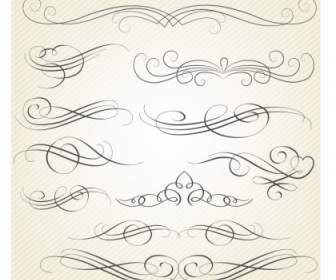 Calligraphy Decorative Frame With Corner Vector Vector