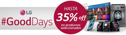 LG #GOODDAYS - HASTA 35%OFF EN PRODUCTOS SELECCIONADOS.