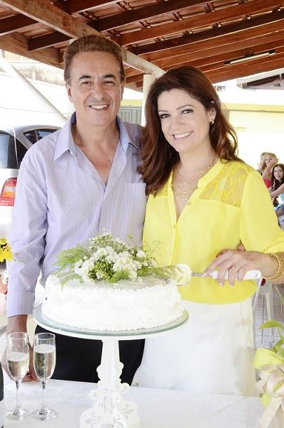 Vera Garcia (amputada do braço direito) e Hélio Faria