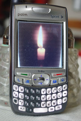 Smart phone candle