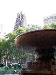 Bryant Park Fountain! 3