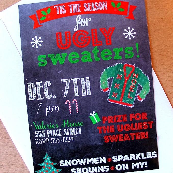 Ugly Sweater Invite Square