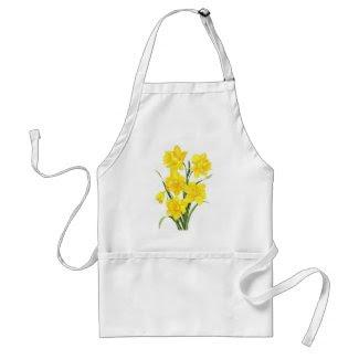 Yellow daffodils aprons