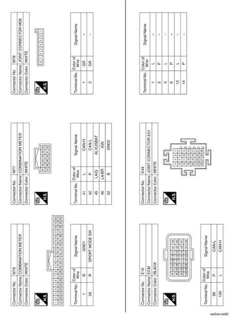 Nissan Rogue Service Manual: Wiring diagram - Drive Mode