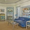 Sandy-Hued Living Room - 20 Beautiful Beach Cottages - Coastal Living