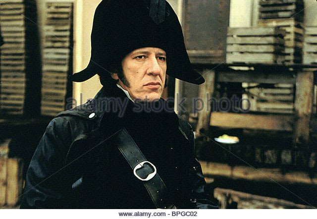stock image of Geoffrey Rush as Javert in Les Mis