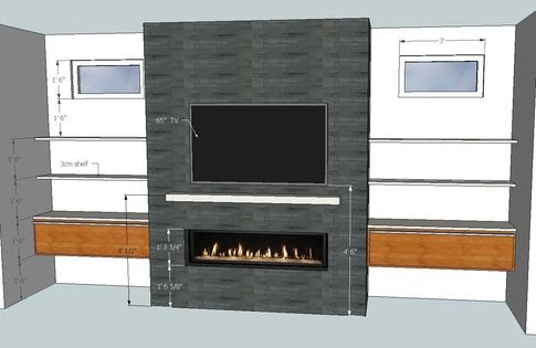 Linear Fireplace With Tv Above Google Search Make A House