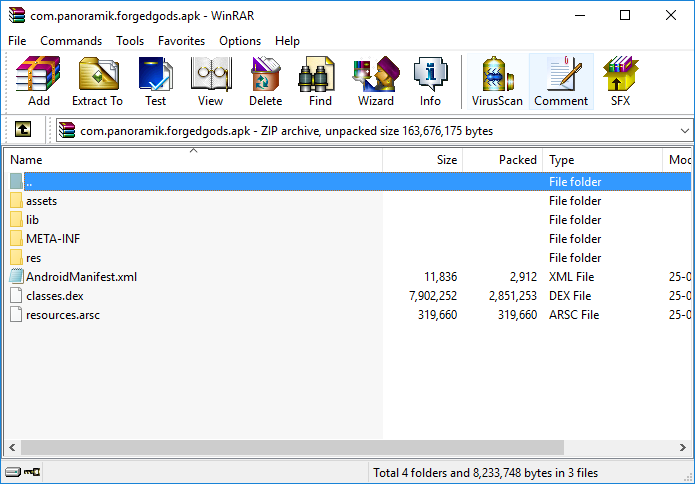 How to open an APK file using Winrar or 7-Zip on Windows