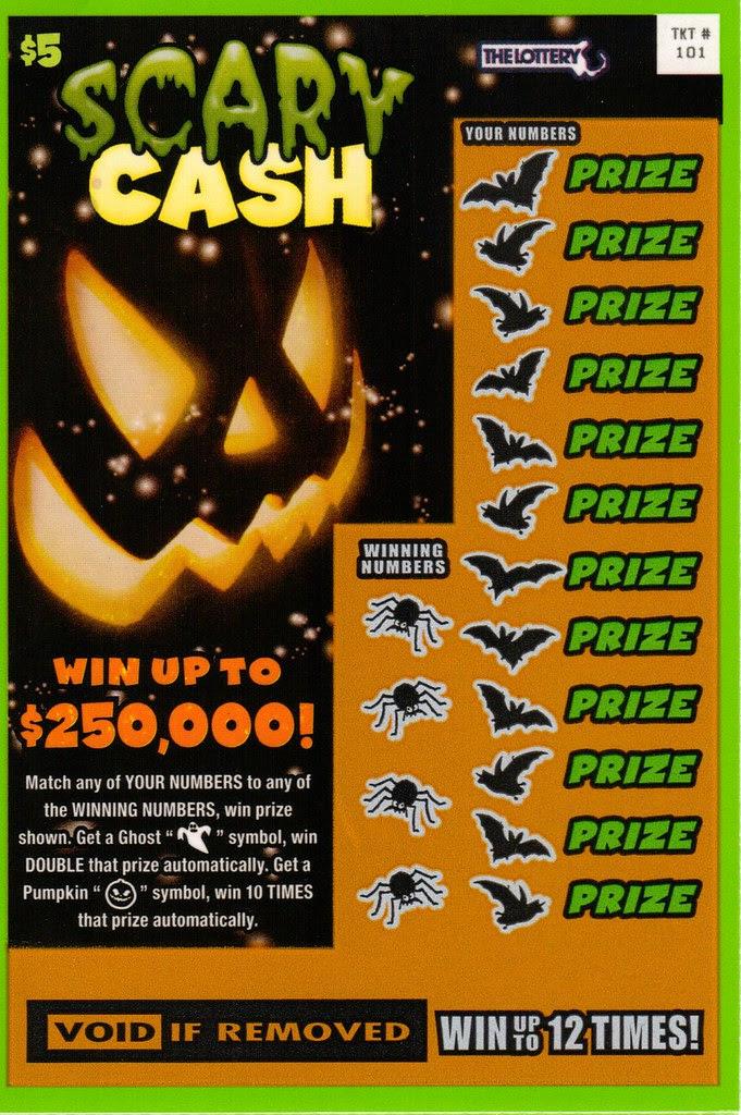 Massachusetts 2013 Halloween lottery ticket