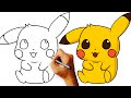 How To Draw Cute Pikachu Step By Step