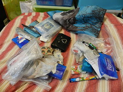 Organising handbag contents - Before