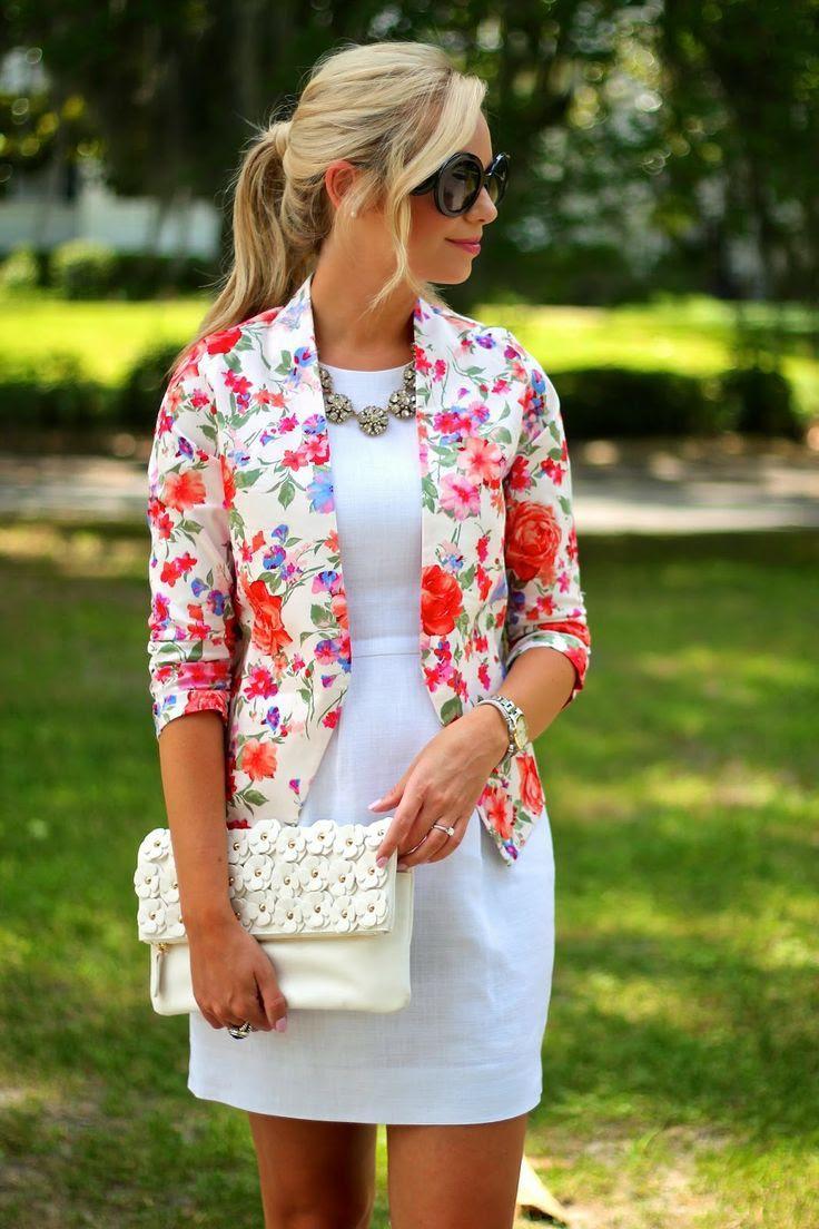 Pretty Floral Blazer